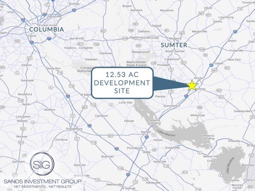 12.53 Acre Development Site | Manning, SC